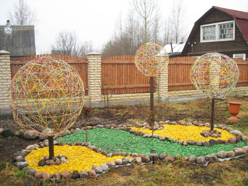 Декоративные деревья для сада своими руками